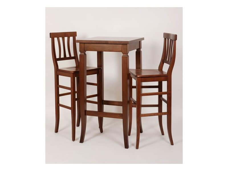 Bistrot, Highl raw stool, for rustic dining room