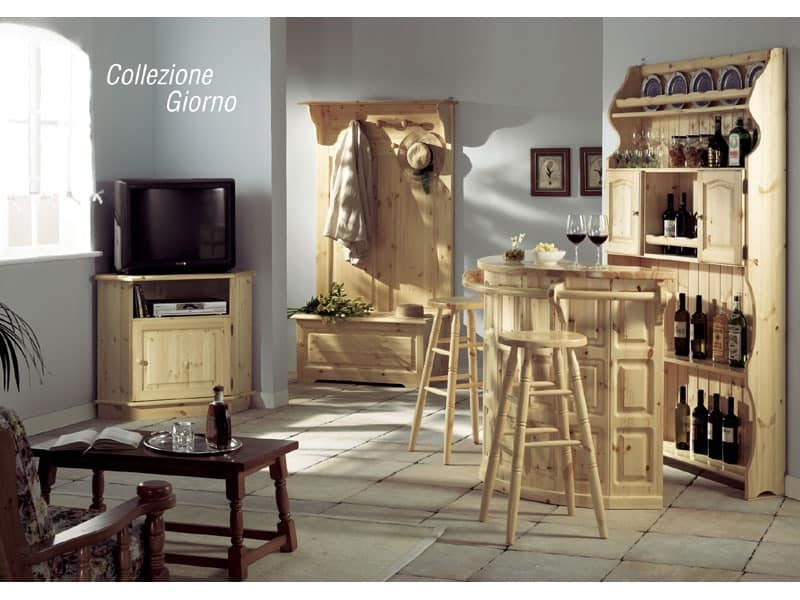 Collection Giorno, Sideboard for the living area, in rustic style