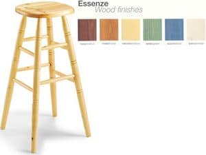 H/301 bar stool, Beech stool, for country restaurant