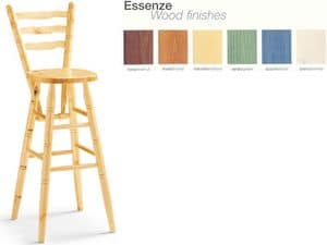 Picture of H/301 S, solid wood barstool