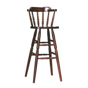 Old barstool, Simple all-wood stool, for snack bar