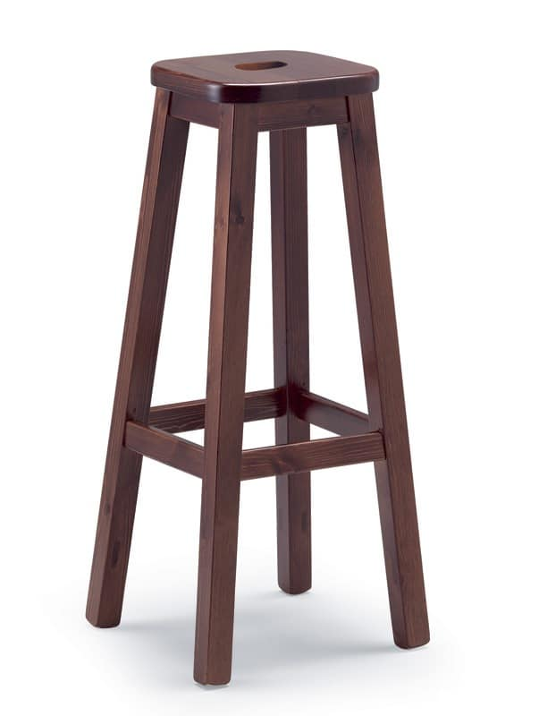 Sturdy pine stool, for rustic houses and taverns  IDFdesign