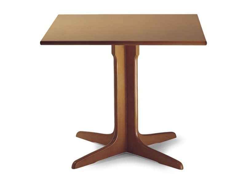 924, Wooden table with central column