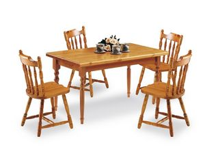 T/140, Rectangular table made of pine, in rustic style