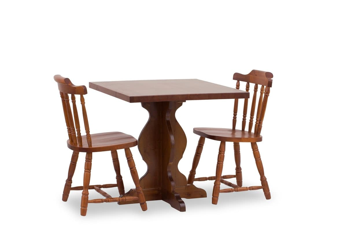 T/410, Rustic table, made of solid wood, for kitchen