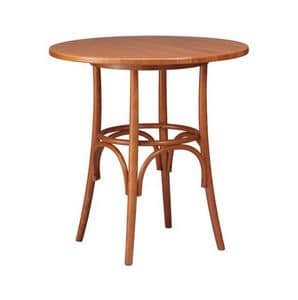 TV01, Tables in beech bent wood, rustic style