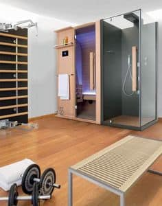 Picture of Cuna Shower, wooden sauna