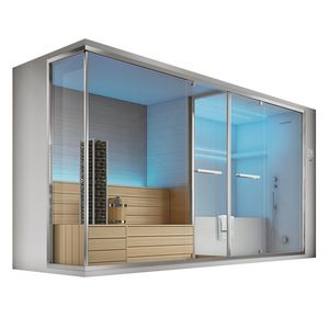 Olimpo with sauna, Sauna e hammam with bath and shower, color therapy