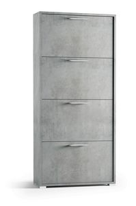 Art. 885 Wall, Space-saving shoe rack with folding doors.