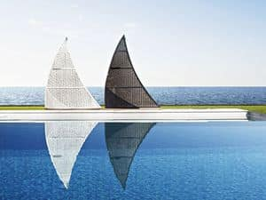 Altea shower, Sail-shaped showerl, for swimming pools and beaches