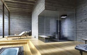 ANANDA, Modular shower Space, tailored, for Spa