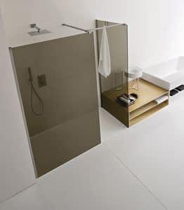 Picture of ARGO corner closing walk-in, shower box wall panels