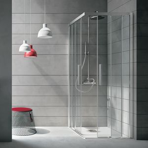 Aster, Shower cabin in glass with anti-limescale treatment