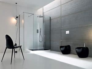 Picture of BOMA corner closing walk-in, multifunction shower cubicle