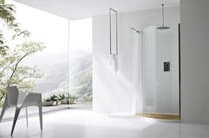 Picture of BOMA corner closing with curtain, modern shower boxes