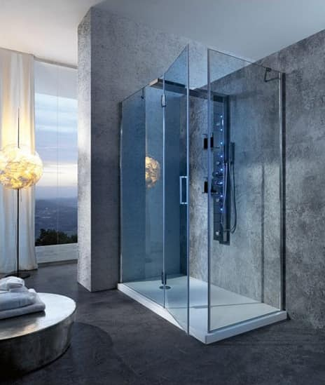 Glass Shower With Mixer, For Hotel Bathroom