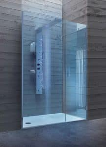 Bristol Box 8, Walk-in shower with glass door, for hotels bathrooms