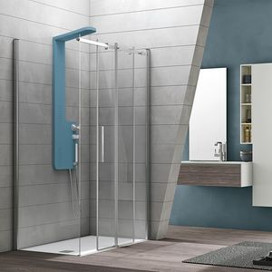 Flow, Shower cabin in essential style, for hotels
