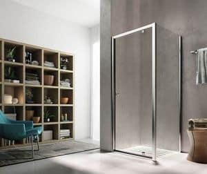 ISY, Cabin for modern shower, sliding door, for spa