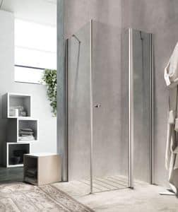 LULA, Corner shower, elegant finishes, for hotel room