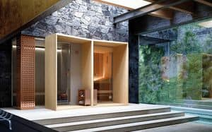 MEMO, Composition modular sauna and steam bath, stove with stones, steam generator