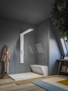 NONSOLODOCCIA SHOWER, Shower and hammam, with sitting and shower tray in Plylite