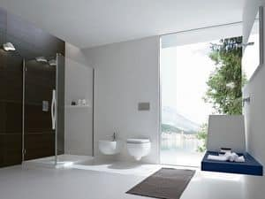 Picture of OPUS corner closing with door, multifunction shower cubicle