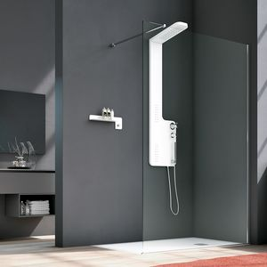 Side, Shower with essential design, with magnetic closures