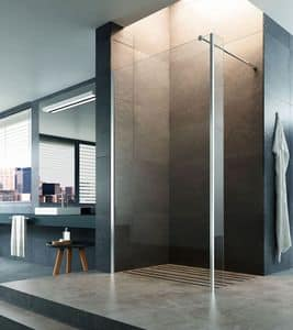 STEP-IN, Closing walk-in shower, floor-mounted or shower tray installation