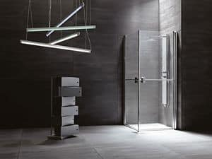 SUAVE, Shower box with hinged doors, various versions and finishes