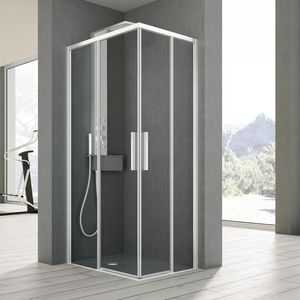 time with 2 sliding doors, Shower cubicle with two sliding doors, for household