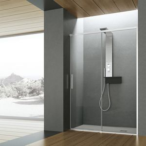 Time with sliding door, Shower with brill profiles and 8 mm trasparence glass