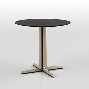 Cross low table 2, Round small table with steel and acrylic base