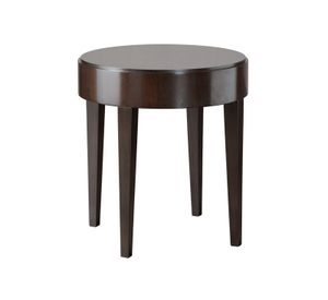 Downtown side table, Round side table with veneered wood top
