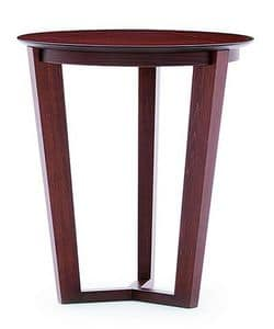 Flen 901 - 902, Round coffee table, solid beech frame, beech or marble top