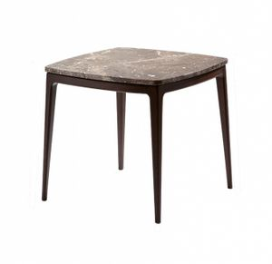 Indigo coffee table, Square coffee table with marble top
