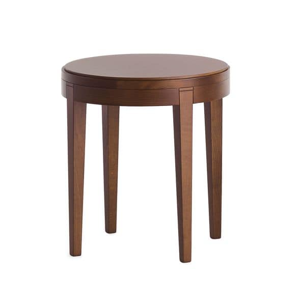 coffee table in beechwood with round top idfdesign