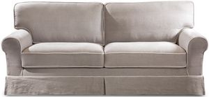 Rivoli sofa bed, Classic sofa bed, in linen, fabric or leather