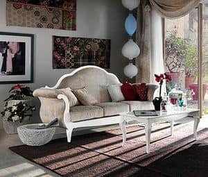 Art. AX405, Sofa in a classic Provencal style, made in fine wood