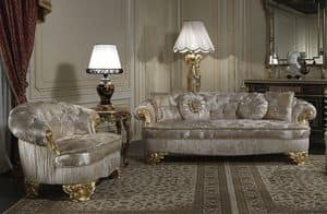 Art. PA/603 Sofa, Sofa luxury classic, seats with wide depth