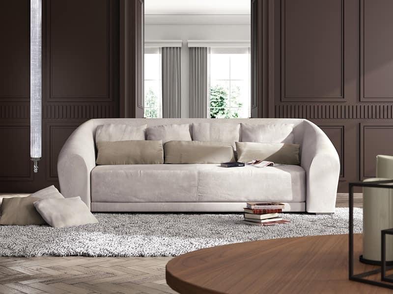 Sofa in contemporary classic style curved shape idfdesign for Divani bellissimi moderni