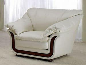 Corniche armchair, Very soft armchair with high comfort