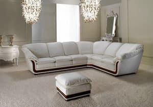 Corniche corner sofa, Corner sofa, made of genuine leather