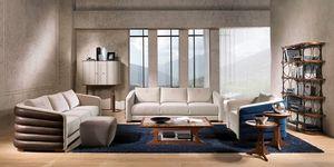 Wood Sofa Padded Comfortable Classic Luxury Idfdesign