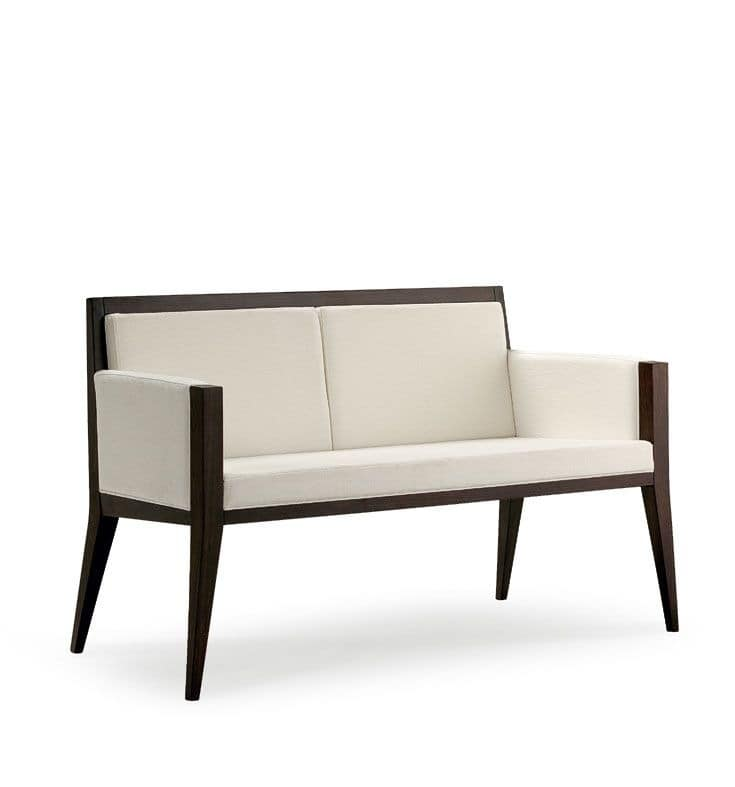 Executive D Modern Upholstered Wooden Loveseat For Office