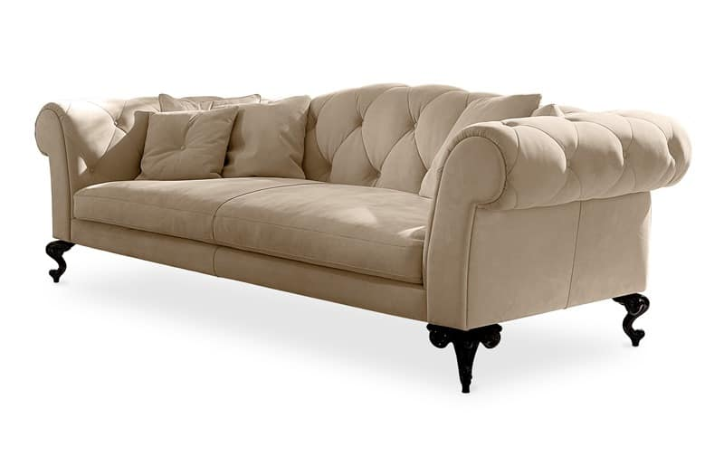 Upholstered Quilted Sofa In Classic Style Idfdesign