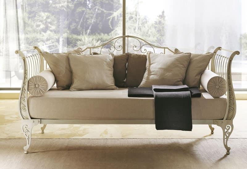 Sleeper sofa in flat drawn iron in modern style idfdesign for Sofa design classics