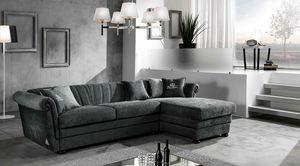 HENDRIX modular, Sofa bed with chaise longue