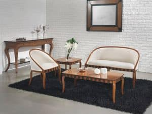 Picture of MIMI' sof� 8285L, wooden sofa