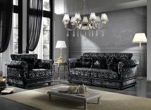 OXFORD, Sofa with elegant fabric